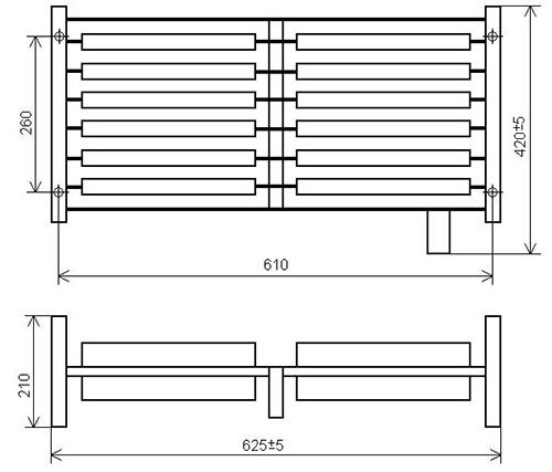 Габаритно-присоединительные размеры блоков резисторов БК12 У2
