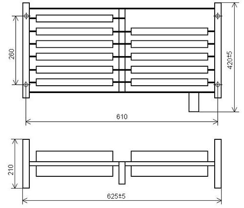Габаритно-присоединительные размеры блоков резисторов ЯС-3