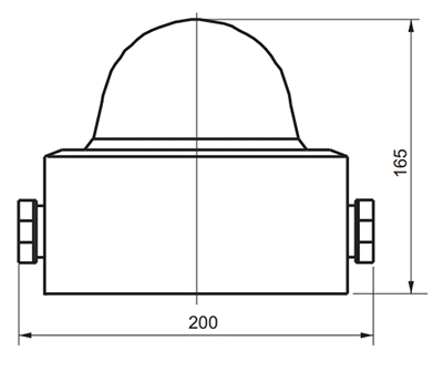 Габаритные размеры светофора СС-56