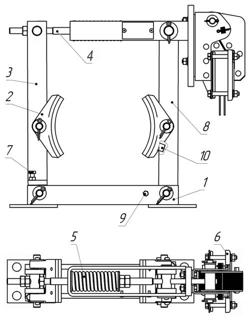 Конструкция и принцип действия тормозовТКТ