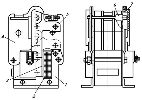 Конструкция электромагнита ЭМ33 со степенью защиты IP00